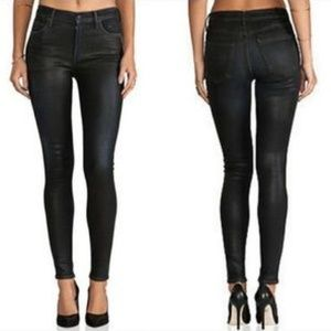 7 For All Mankind the Skinny Black Coated Jean